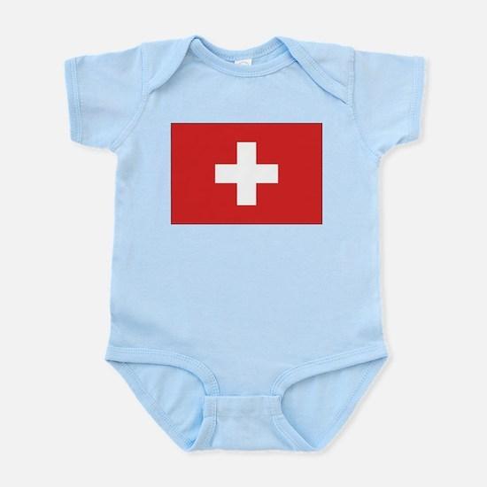 Switzerland Civil Ensign Infant Creeper