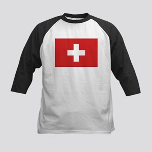 Switzerland Civil Ensign Kids Baseball Jersey