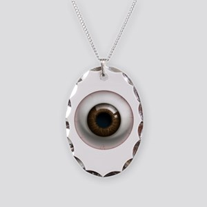 The Eye: Brown, Dark Necklace Oval Charm