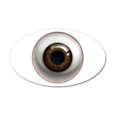 The Eye: Brown, Dark 22x14 Oval Wall Peel
