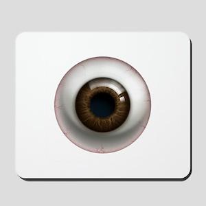 The Eye: Brown, Dark Mousepad