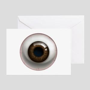 The Eye: Brown, Dark Greeting Card