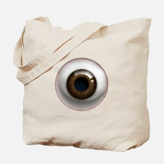 The Eye: Brown, Dark Tote Bag