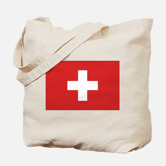 Switzerland Civil Ensign Tote Bag