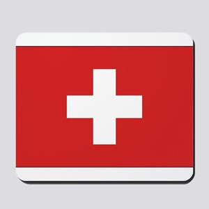 Switzerland Civil Ensign Mousepad