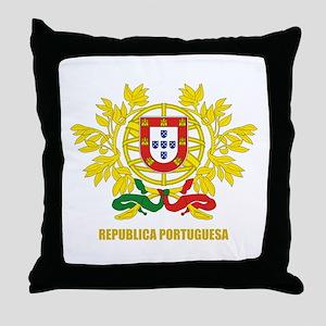 Portuguese COA Throw Pillow