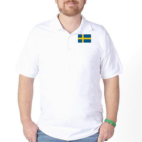 Sweden Flag Golf Shirt