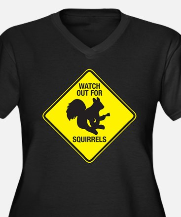 Watch Out For Squirrels Women's Plus Size V-Neck D