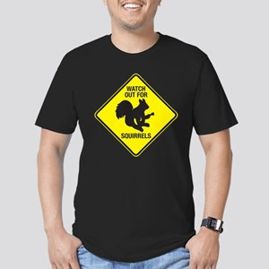 Watch Out For Squirrels Men's Fitted T-Shirt (dark