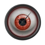 The Eye: Red Large Wall Clock