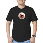 The Eye: Red Men's Fitted T-Shirt (dark)