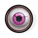 The Eye: Pink, Dark Wall Clock
