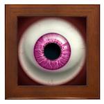 The Eye: Pink, Dark Framed Tile
