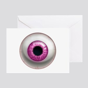 The Eye: Pink, Dark Greeting Card