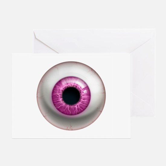The Eye: Pink, Dark Greeting Card