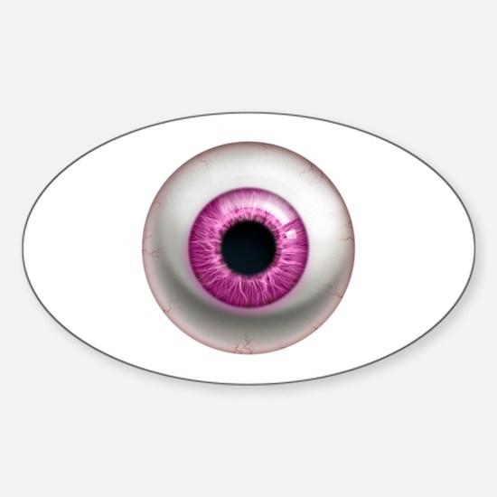 The Eye: Pink, Dark Sticker (Oval)