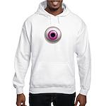 The Eye: Pink, Dark Hooded Sweatshirt