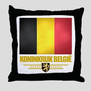 Belgian Flag Throw Pillow