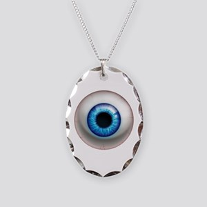 The Eye: Electric Necklace Oval Charm