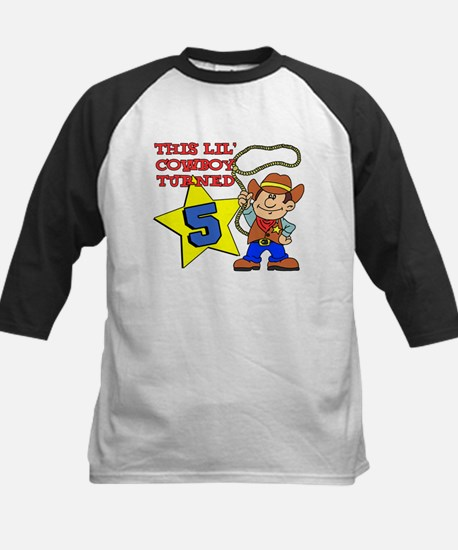 This Little Cowboy Turned 5 Kids Baseball Jersey
