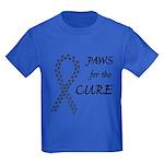 Black Paws4Cure Kids Dark T-Shirt