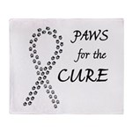 Black Paws4Cure Throw Blanket