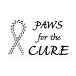 Black Paws4Cure 38.5 x 24.5 Wall Peel