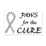 Black Paws4Cure 22x14 Wall Peel
