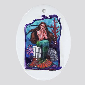 Demure Maid Ornament (Oval)