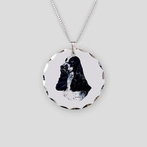 English Cocker Spaniel Necklace Circle Charm
