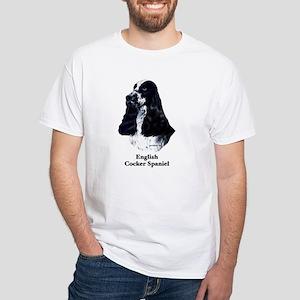 English Cocker Spaniel White T-Shirt