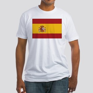 Spain State Flag Fitted T-Shirt