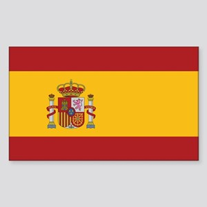 Spain State Flag Rectangle Sticker