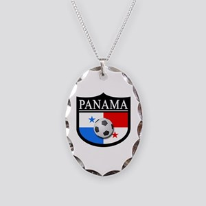 Panama Patch (Soccer) Necklace Oval Charm