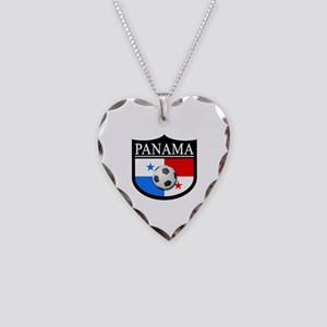 Panama Patch (Soccer) Necklace Heart Charm