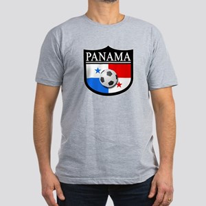 Panama Patch (Soccer) Men's Fitted T-Shirt (dark)