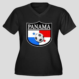 Panama Patch (Soccer) Women's Plus Size V-Neck Dar