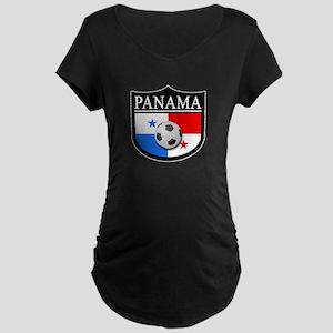 Panama Patch (Soccer) Maternity Dark T-Shirt