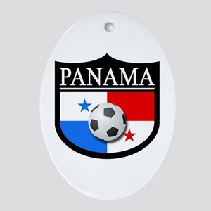 Panama Patch (Soccer) Ornament (Oval)
