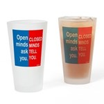 Open Mind Drinking Glass