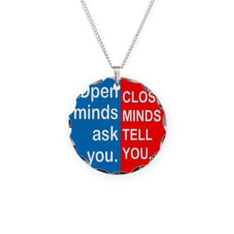 Open Mind Necklace Circle Charm