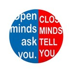 "Open Mind 3.5"" Button (100 pack)"