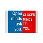 Open Mind Rectangle Magnet