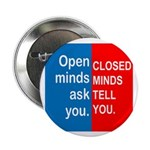 "Open Mind 2.25"" Button (100 pack)"