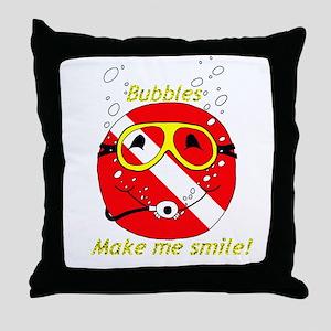 Bubbles Smile Throw Pillow
