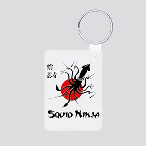Squid Ninja Aluminum Photo Keychain