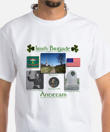 Irish Brigade at Antietam White T-Shirt