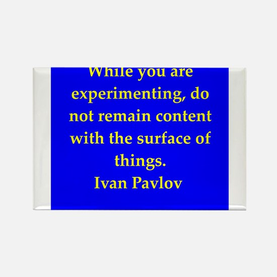 Ivan Pavlov quotes Rectangle Magnet