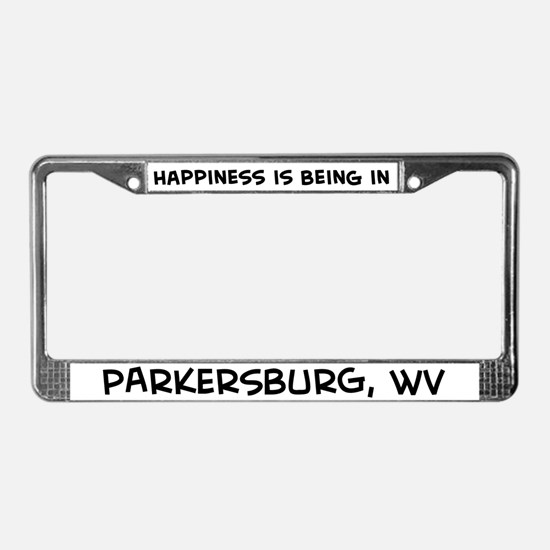 Happiness is Parkersburg License Plate Frame