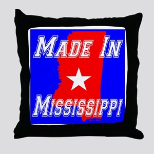 Made In Mississippi Throw Pillow